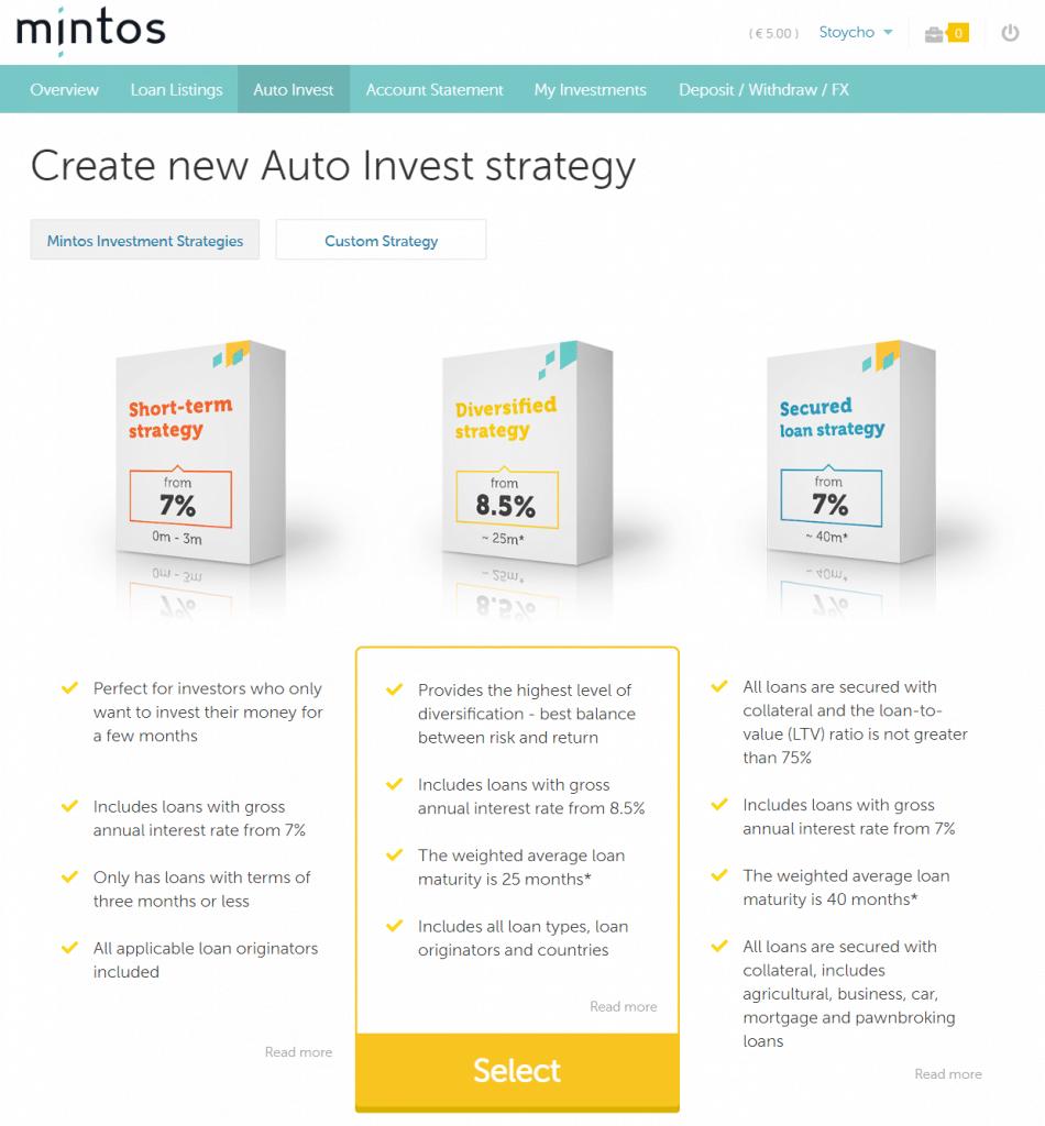 минтос п2п платформа peer to peer lending auto invest strategy