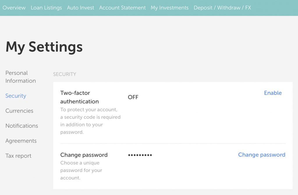 Mintos two factor authentication 2FA Минтос сигурен