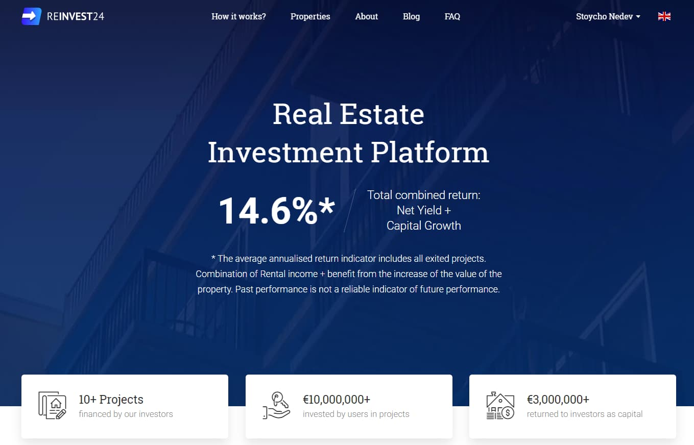 Reinvest24 P2P real estate rental income