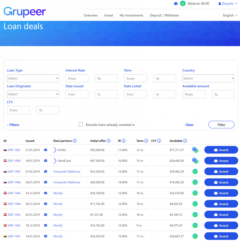 Grupeer Review P2P investment п2п групеер