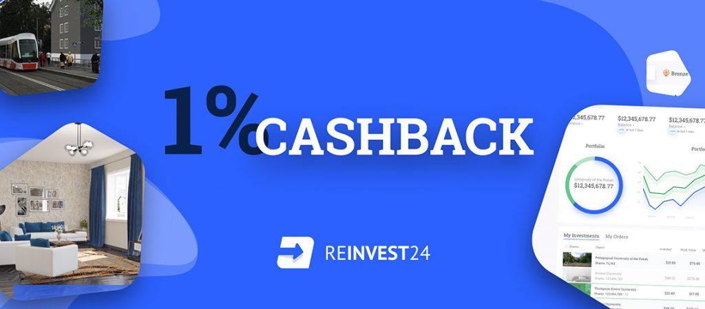 Reinvest24 cashback campaing бонус п2п кешбек bonus Peer to peer P2P