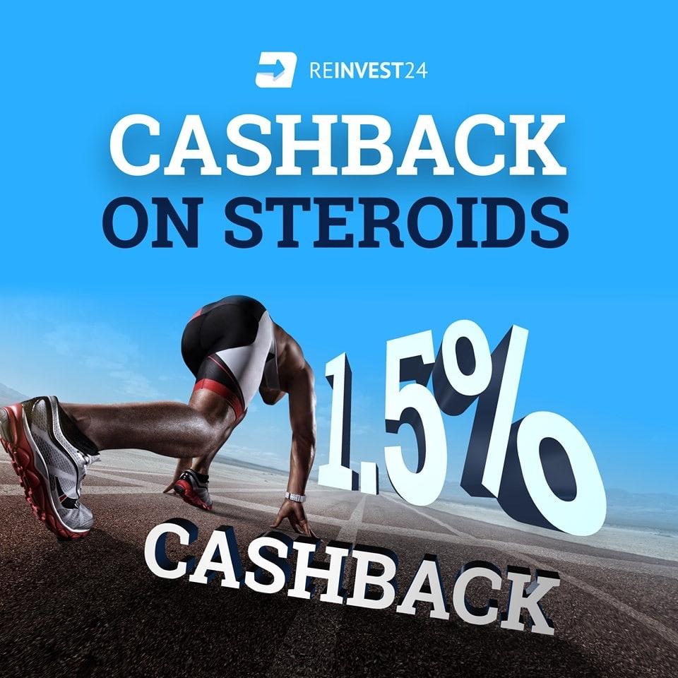Reinvest24 кешбек бонус