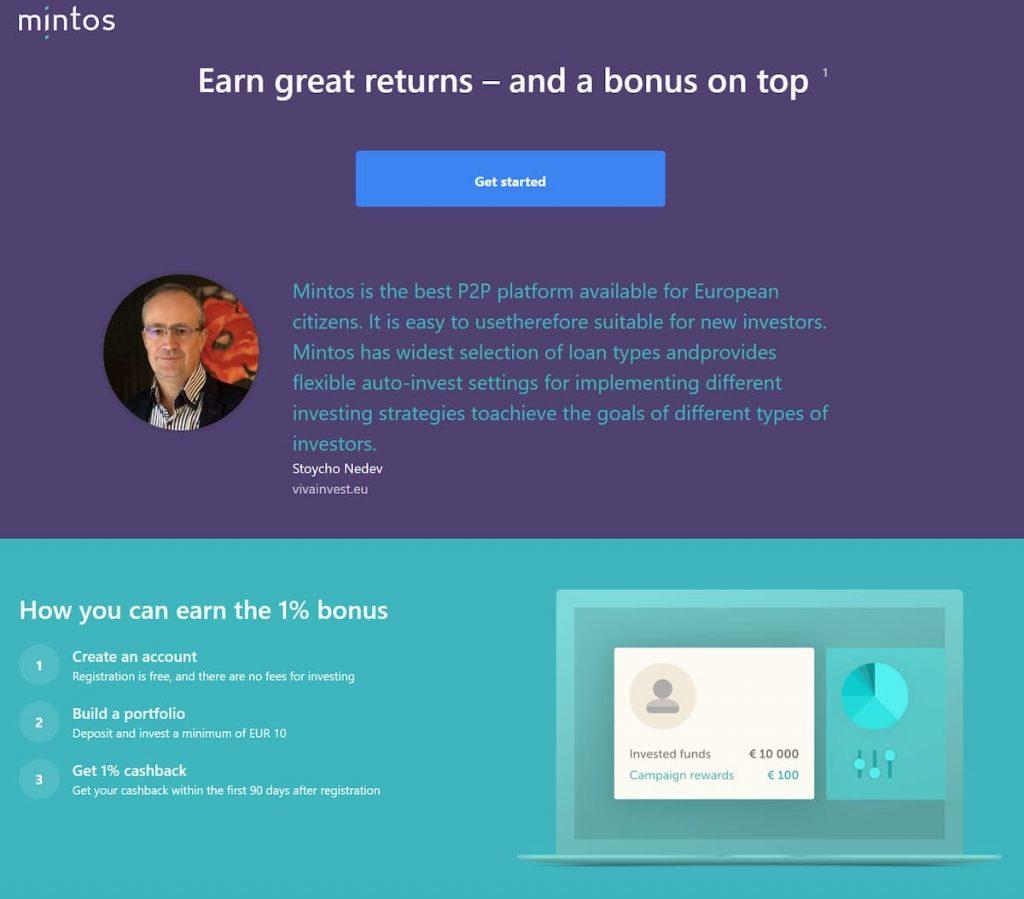 1% бонус в Mintos P2P инвестициите и финтех