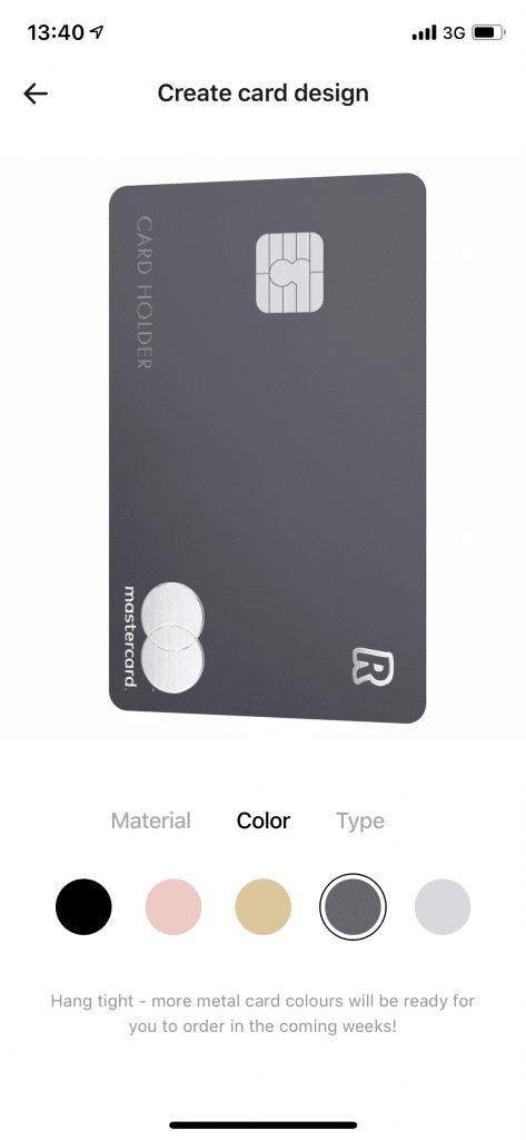 Revolut Space Gray метални карти