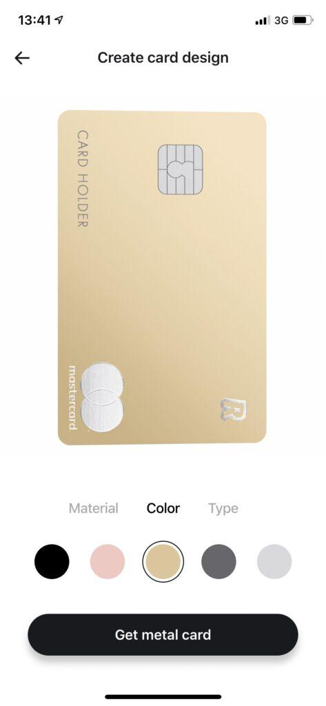 Revolut Gold метални карти