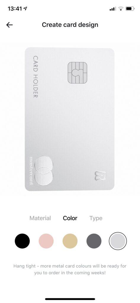 Revolut Silver метални карти