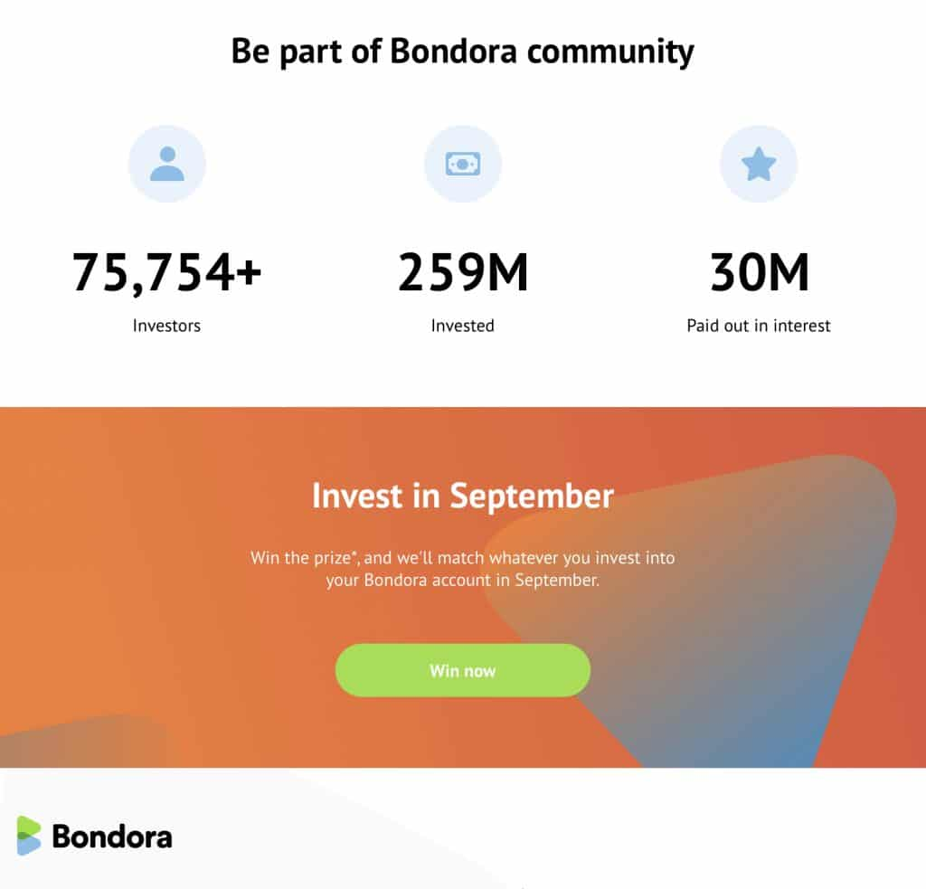 Bondora през септември статистика