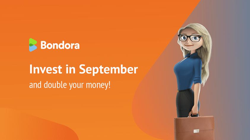 двоен бонус от Bondora през септеври