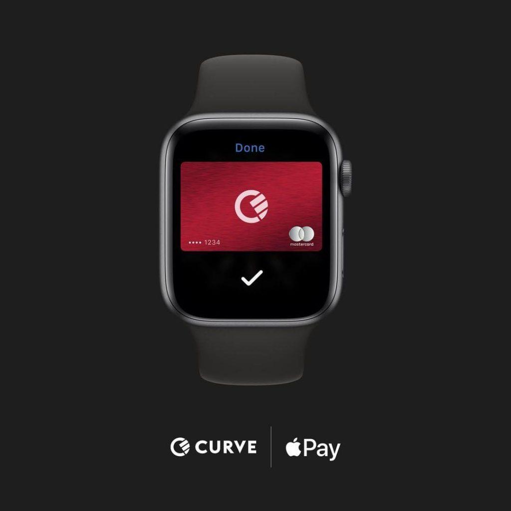 curve курве плащане с часовник apple watch