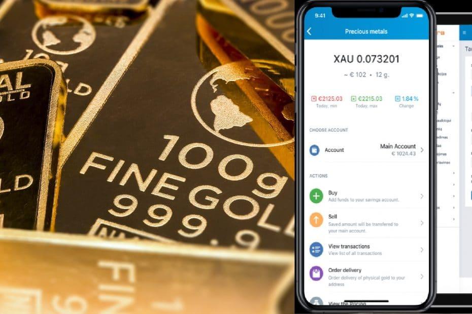 Търговия със злато в Paysera