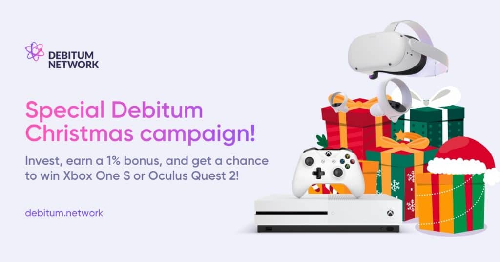 Christmas 2020 cashback campaign on Debitum.Network
